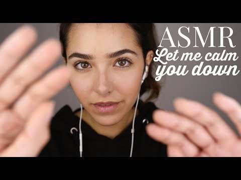 ASMR Let Me Calm You Down! (Shh, Hand movements, Face Touching, Everything will be fine, Breathing)