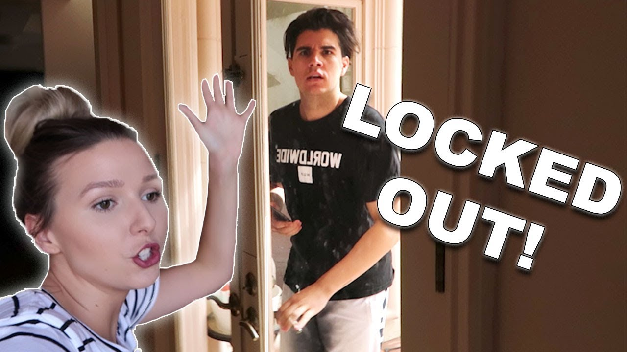 Locked My Boyfriend Out Of The House!  **PRANK WARS**