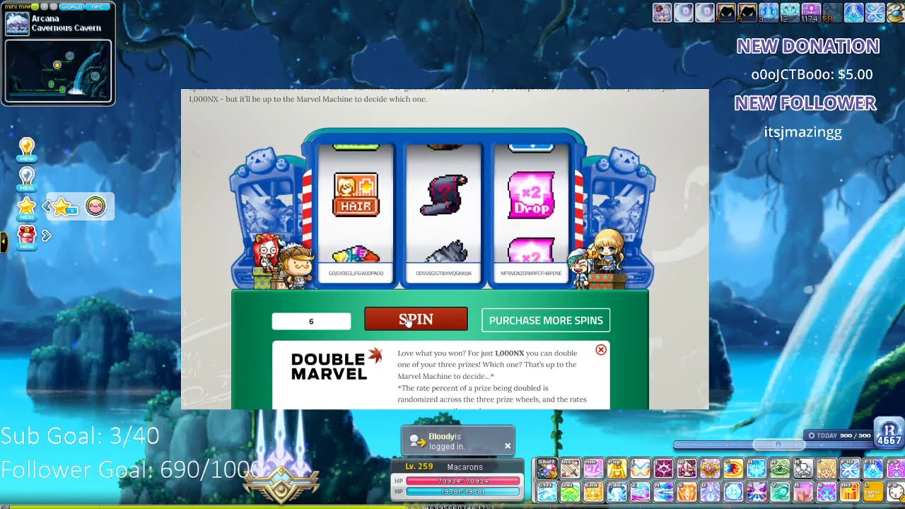 Maplestory: 250k NX MaRvEl MaChInE