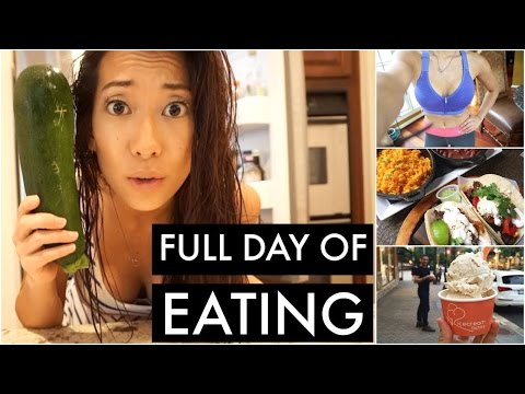Full Day of Vegetarian Eating | Chewning & Full Body Workout