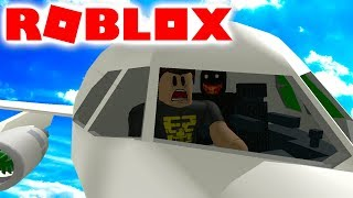 A MONSTER on the plane! -(CAMPING) Roblox Airplane Story Danish with ComKean