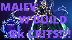 Maiev Cage - W BUILD BIG CRITS! - Grandmaster Storm League