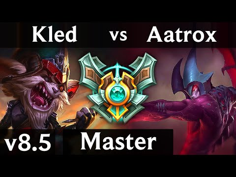 KLED vs AATROX TOP  Korea Master  Patch 85