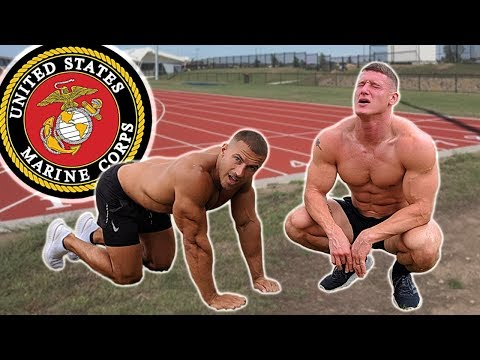 Bodybuilders try the US Marine Fitness Test without practice
