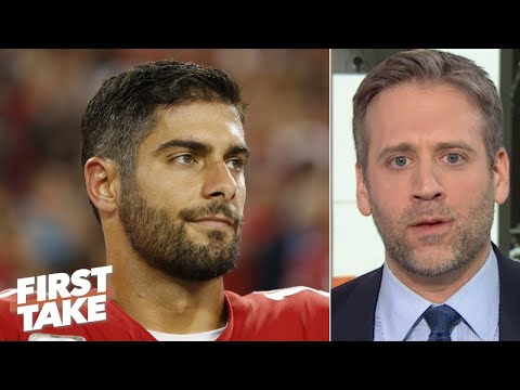 jimmy-garoppolo-can't-elevate-to-aaron-rodgers'-level-in-the-nfc-championship-–-max-|-first-take