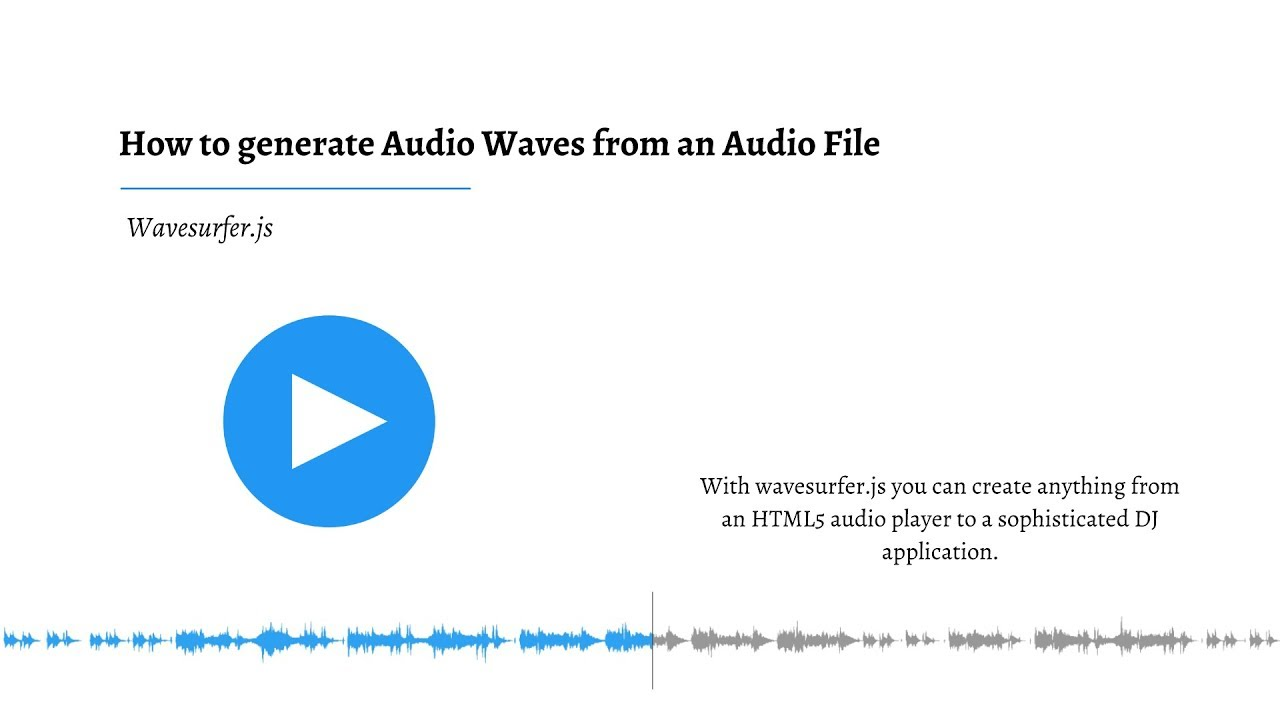 How to generate Audio Waves (Audio Spectrum) from an Audio File in  JavaScript using Wavesurfer js
