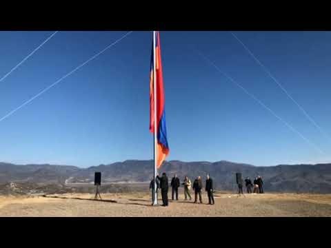 Торжественно был поднят армянский флаг в пограничном селе сюникской области Армении