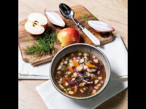 Supă de pui cu mere și varză
