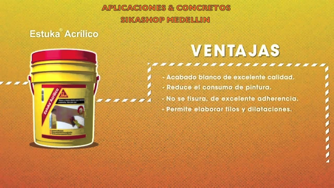 Estuka acrilico sika youtube for Productos sika para piscinas