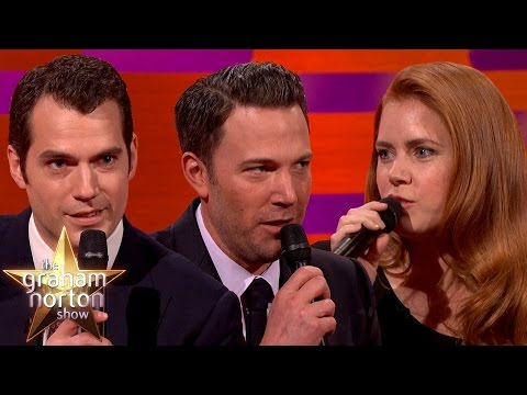 Henry Cavill, Ben Affleck and Amy Adams Do The Batman Voice  The Graham Norton