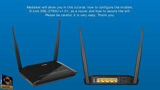D-LINK DSL-2790U modem configuration - English