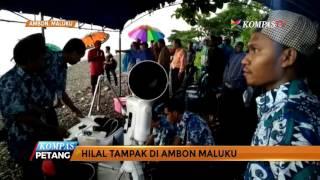 Hilal Tampak di Ambon, Maluku 2017 Video