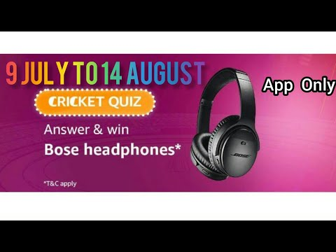 Amazon Quiz Today Answer | Win Sennheiser Headphones | 9 July to 14 August