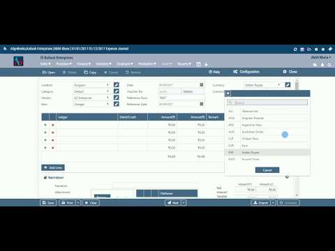 AlignBooks Transaction Forms - Finance Expenses Journal