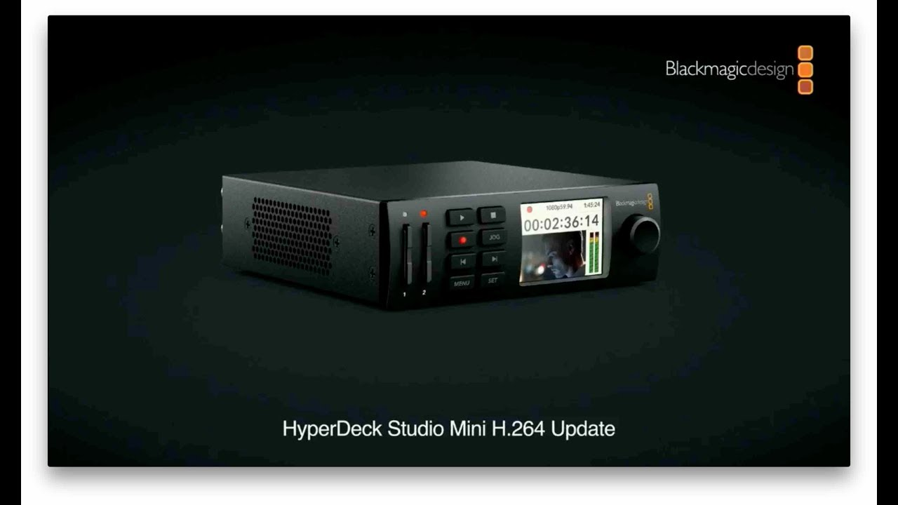 Blackmagic Design Hyperdeck Studio Mini H 264 Free Update Nab 2018 Press Conference Youtube