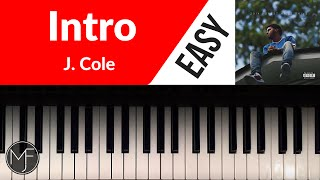 """""""Intro"""" by J. Cole Piano Tutorial"""