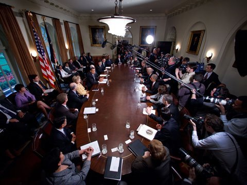 The President's First Cabinet Meeting