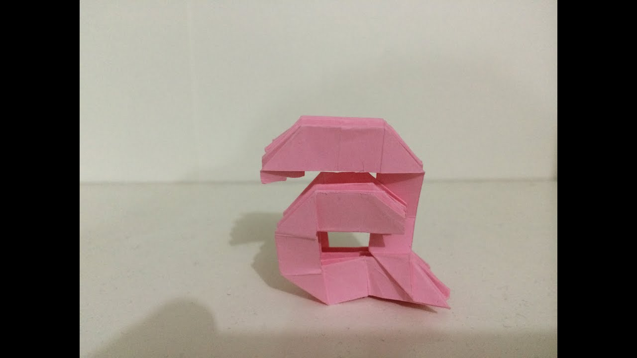 Origami Lower Case Letter A