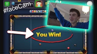 THIS IS WHAT HAPPEN WHEN YOU'RE SICK | FaceCam 8 Ball Pool