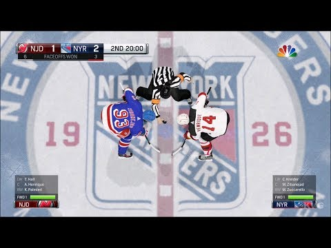NHL 18 - New York Rangers vs New Jersey Devils - Gameplay (HD) [1080p60FPS]