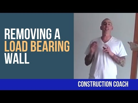 Remove load bearing wall part 1 diy must see doovi for Can a load bearing wall be removed