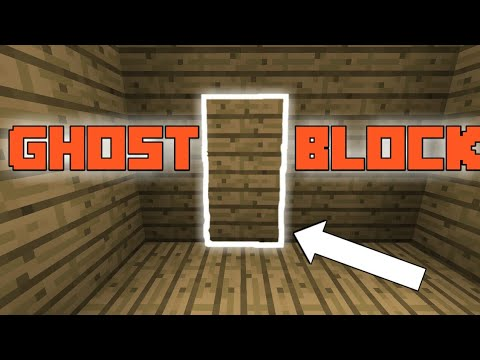 HOW TO MAKE GHOST/INVISIBLE BLOCKS - MINECRAFT