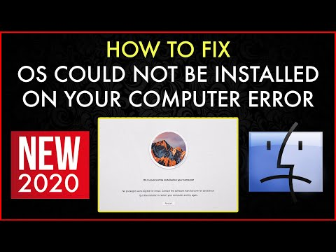 MacOS / OS X Could Not Be Installed On Your Computer (Fix) No Packages Were Eligible For Install