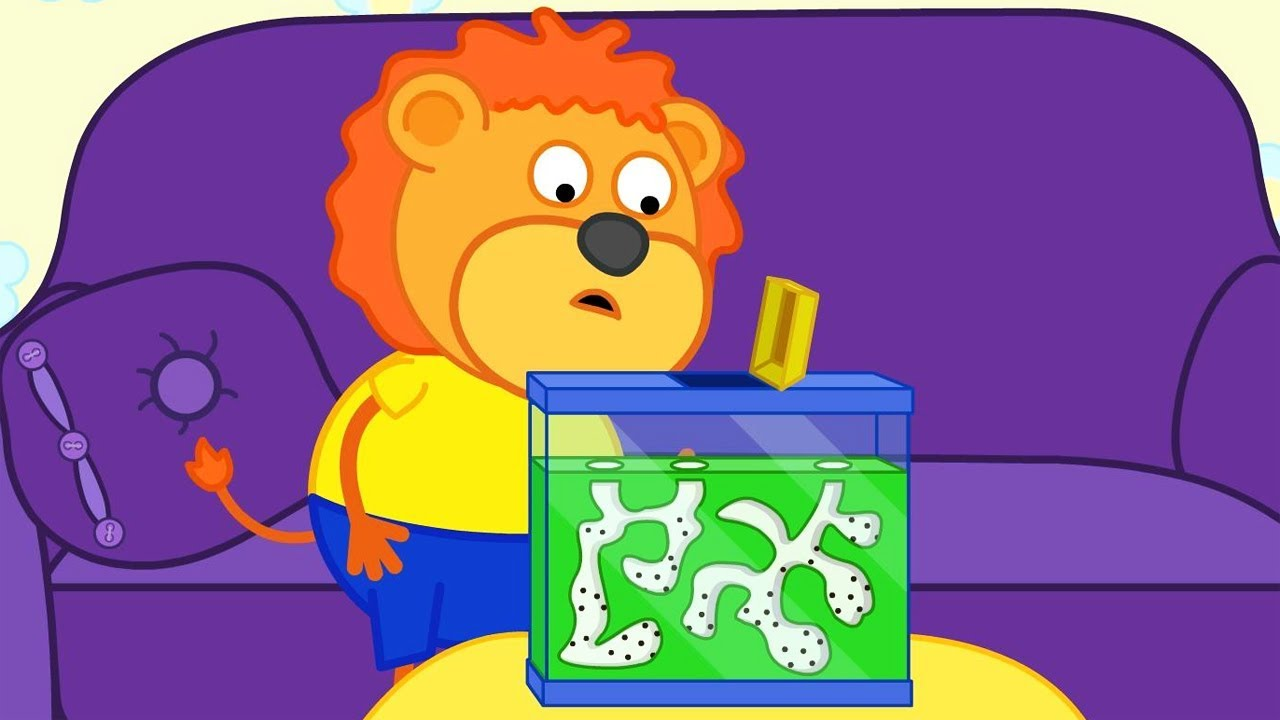 Lion Family Termites want to Eat Cartoon for Kids