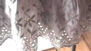 blue petticoat cotton slip dress.mov
