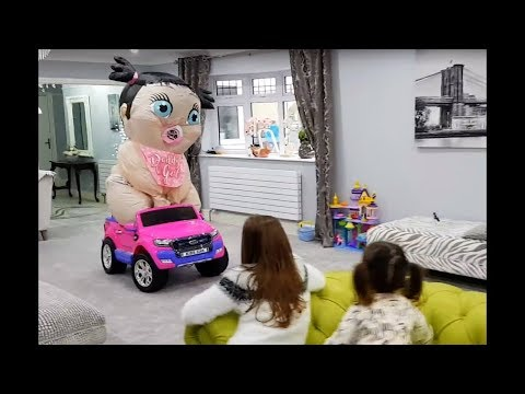 Thumbnail: Emily Playing with Giant Baby- Feeding baby doll