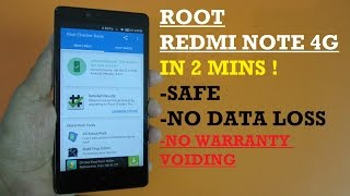 Root/Unroot Redmi Note 4G IN 2 MINS !