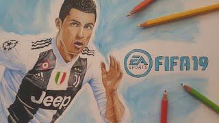 Come disegnare Cristiano Ronaldo   Fifa 19 Cover   CR7   drawing