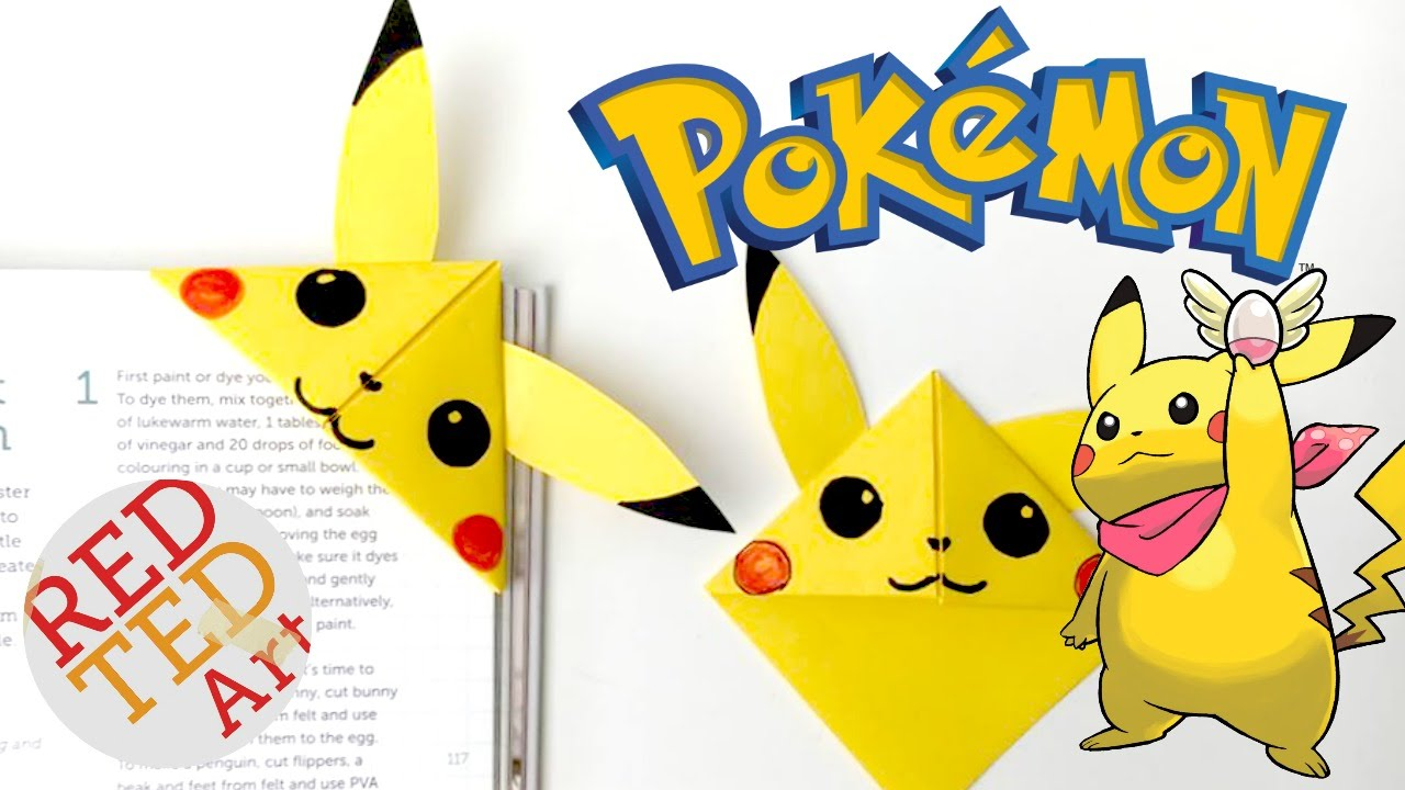 Easy Pikachu Bookmark Corner