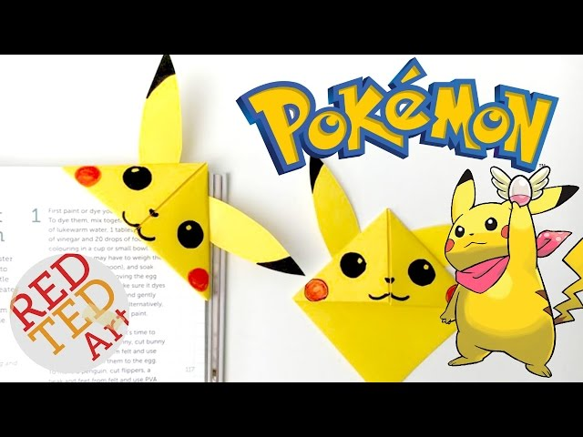 Easy Pikachu DIY Bookmark Corners (Paper Crafts) - YouTube | 480x640