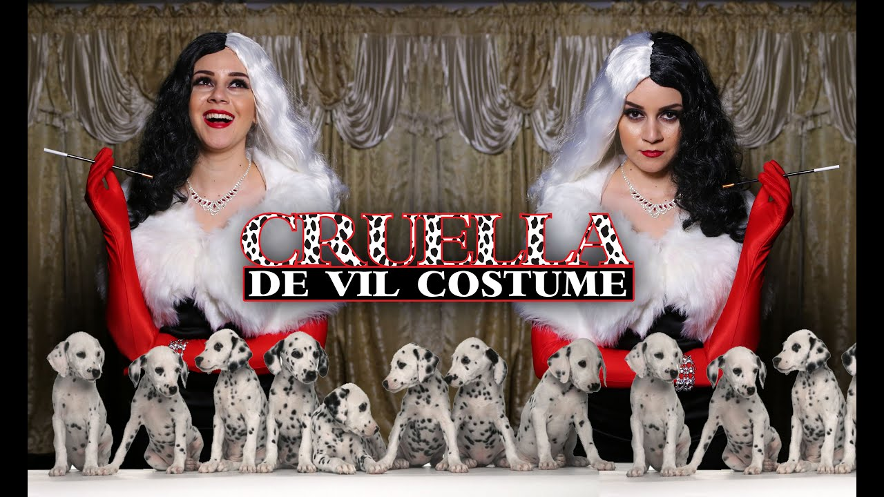 diy easy halloween costume cruella de vil lucykiins youtube. Black Bedroom Furniture Sets. Home Design Ideas