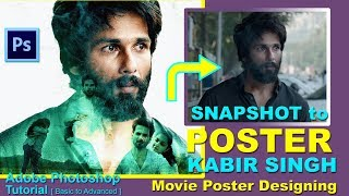 KABIR SINGH FILM POSTER IN PHTOTOSHOP | DOUBLE EXPOSURE EFFECT | SHAHID KAPOOR MOVIE POSTER