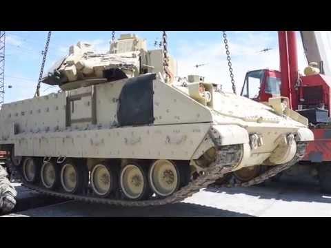 Heavy Armor Arrives in Tbilisi, Georgia for Exercise Noble Partner