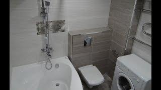 видео Фото ремонта ванной комнаты совмещенной с туалетом. Какой сделать ремонт в ванной комнате с душевой кабиной совмещенной с туалетом.