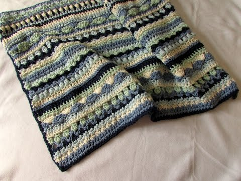 how-to-crochet-a-pretty-mixed-stripe-blanket-/-afghan-/-throw-tutorial