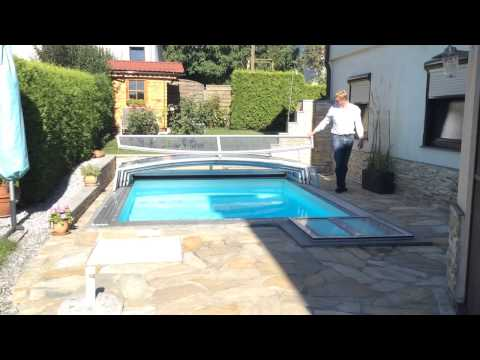 pool berdachung f r kleinen garten youtube. Black Bedroom Furniture Sets. Home Design Ideas