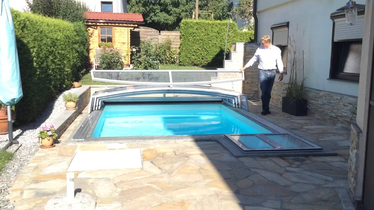 Pool berdachung f r kleinen garten youtube - Uberdachung fur pool ...