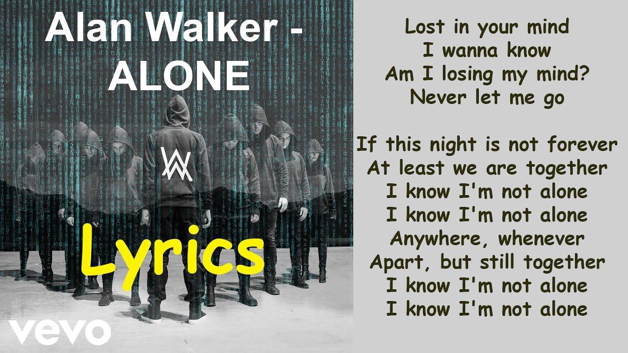 Alan Walker – Alone (Lyrics) - YouTube