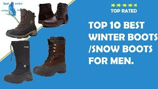 mens waterproof winter boots ? best winter slip on stylish snow fashion boots for men online.