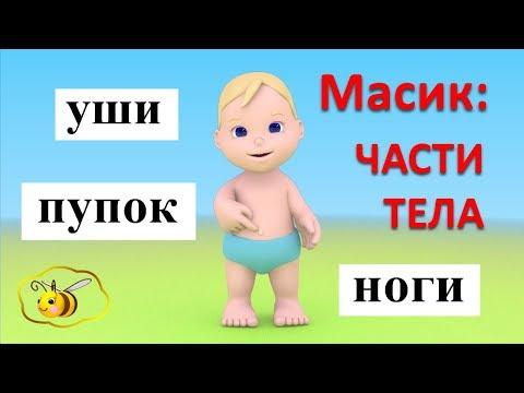 Мультфильм для детей про части тела