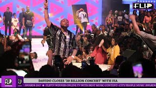 DAVIDO CLOSES '30 BILLION CONCERT' WITH FIA