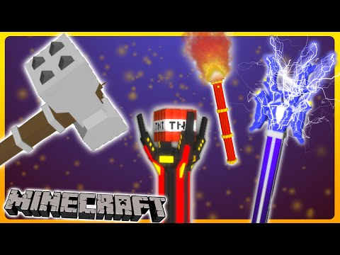 Minecraft - Epic 3D Weapons w/ One Command | Vanilla 1.10