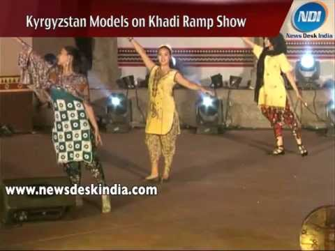 Kyrgyzstan Artists showcasing Khadi Wear at Surajkund
