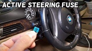 ACTIVE STEERING FUSE LOCATION BMW E90 E91 E92 E93