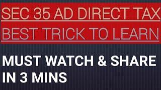 Best trick sec 35ad PGBP direct tax