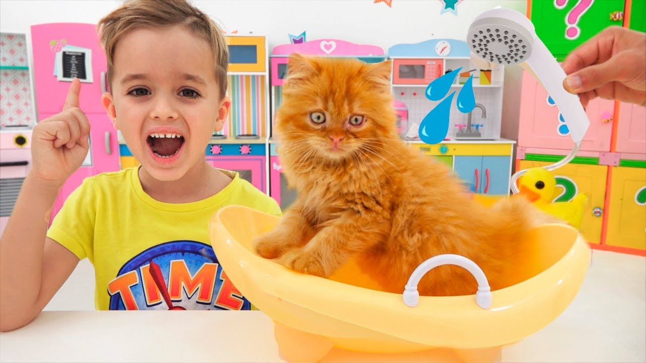 Vlad and Niki find a kitten